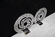 Harley Davidson Motorcycle Steel Brake Rotors AFTER Chrome-Like Metal Polishing and Buffing Services / Restoration Service