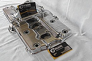 Aluminum Motorcycle Finned Valve Cover AFTER Chrome-Like Metal Polishing and Buffing Services / Restoration Services