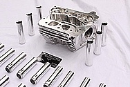Aluminum Motorcycle Head and Pushrod Tubes AFTER Chrome-Like Metal Polishing and Buffing Services