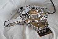 Ducati Motorcycle Engine Cover Piece AFTER Chrome-Like Metal Polishing and Buffing Services / Restoration Services