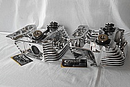 Patrick Billet Aluminum Motorcycle Engine Cylinder Heads AFTER Chrome-Like Metal Polishing and Buffing Services / Restoration Services