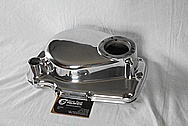 Aluminum Motorcycle Engine Cover Piece AFTER Chrome-Like Metal Polishing and Buffing Services / Restoration Services