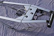 Motorcycle Aluminum Custom Swingarm AFTER Chrome-Like Metal Polishing and Buffing Services