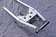 Motorcycle Aluminum Custom Swingarm AFTER Chrome-Like Metal Polishing and Buffing Services
