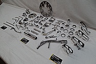 Aluminum and Steel Motorcycle Parts AFTER Chrome-Like Metal Polishing and Buffing Services / Restoration Services