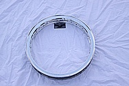 Aluminum Motorcycle Spoke Wheel AFTER Chrome-Like Metal Polishing and Buffing Services