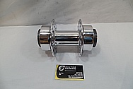 Aluminum Motorcycle Hub Piece AFTER Chrome-Like Metal Polishing and Buffing Services / Restoration Services