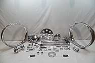 Aluminum Motorcycle Parts AFTER Chrome-Like Metal Polishing and Buffing Services / Restoration Services
