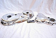 1975 Norton Commando Aluminum Engine Cover Pieces AFTER Chrome-Like Metal Polishing and Buffing Services
