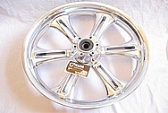 2011 Victory Crossroads Motorcycle Aluminum Wheel AFTER Chrome-Like Metal Polishing and Buffing Services