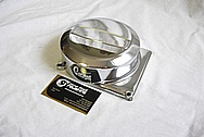 Aluminum Motorcycle Cover Piece AFTER Chrome-Like Metal Polishing and Buffing Services Plus Clear Coating Services