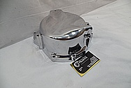 Aluminum Motorcycle Cover AFTER Chrome-Like Metal Polishing and Buffing Services / Restoration Services