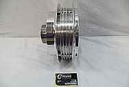 Aluminum Motorcycle Hub AFTER Chrome-Like Metal Polishing and Buffing Services / Restoration Services