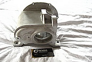 1948 Indian Motorcycle Aluminum Engine Case BEFORE Chrome-Like Metal Polishing and Buffing Services