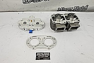 ATV Aluminum Cylinder, Cylinder Head and Spacer Piece Project BEFORE Chrome-Like Metal Polishing and Buffing Services / Restoration Services - Aluminum Polishing - ATV Polishing