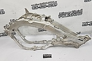 2019 Honda CRF450R Aluminum Motorcycle Frame BEFORE Chrome-Like Metal Polishing and Buffing Services / Restoration Services - Aluminum Polishing - Motorcycle Polishing