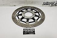 Steel Motorcycle Brake Rotor Project BEFORE Chrome-Like Metal Polishing - Aluminum Polishing - Steel Brake Rotor