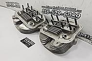 Harley Davidson Aluminum Motorcycle Cylinder Heads BEFORE Chrome-Like Metal Polishing - Aluminum Polishing - Motorcycle Parts Polishing - Cylinder Head Polishing