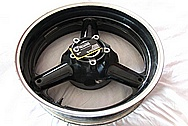 2008 Suzuki Hayabusa Motorcycle Aluminum Wheel BEFORE Chrome-Like Metal Polishing and Buffing Services