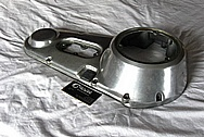 1983 Harley Davidson Shovelhead FXWG Primary Engine Cover BEFORE Chrome-Like Metal Polishing and Buffing Services