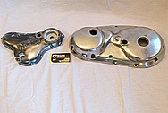 1975 Norton Commando Aluminum Engine Cover Pieces BEFORE Chrome-Like Metal Polishing and Buffing Services