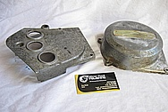 Aluminum Motorcycle Parts BEFORE Chrome-Like Metal Polishing and Buffing Services