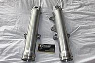 1998 Harley Davidson WideGlide Aluminum Front Forks BEFORE Chrome-Like Metal Polishing and Buffing Services / Resoration Services