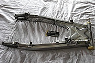 Motorcycle Aluminum Swingarm BEFORE Chrome-Like Metal Polishing and Buffing Services / Resoration Services