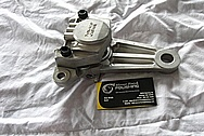 Motorcycle Aluminum Brake Caliper BEFORE Chrome-Like Metal Polishing and Buffing Services / Resoration Services