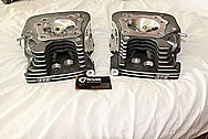 2008 Harley Davidson Road King Motorcycle Aluminum Cylinder Heads BEFORE Chrome-Like Metal Polishing and Buffing Services / Resoration Services