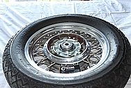 Motorcycle Alumuinum Spoked Wheel and Brake Hub BEFORE Chrome-Like Metal Polishing and Buffing Services / Restoration Services