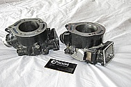 Yamaha Banshee ATV 4 Wheeler Aluminum Engine Cylinders BEFORE Chrome-Like Metal Polishing and Buffing Services / Restoration Services