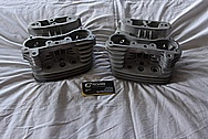 Harley Davidson Motorcycle Aluminum Cylinder Heads BEFORE Chrome-Like Metal Polishing and Buffing Services / Restoration Services