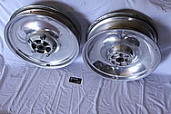 Aluminum Solid Motorcycle Wheels BEFORE Chrome-Like Metal Polishing and Buffing Services / Restoration Services
