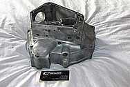 1976 Harley Davidson Shovelhead Aluminum Engine Case BEFORE Chrome-Like Metal Polishing and Buffing Services / Restoration Services