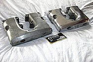 1976 Harley Davidson Shovelhead Aluminum Motorcycle Engine Rocker Box Covers BEFORE Chrome-Like Metal Polishing and Buffing Services / Restoration Services