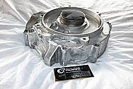 1976 Harley Davidson Shovelhead Aluminum Motorcycle Engine Case BEFORE Chrome-Like Metal Polishing and Buffing Services / Restoration Services