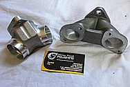Aluminum Motorcycle Carb and Intake Piece BEFORE Chrome-Like Metal Polishing and Buffing Services / Restoration Services