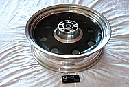 2007 Harley Davidson FXSTBI Aluminum Motorcycle Rear Wheel BEFORE Chrome-Like Metal Polishing and Buffing Services / Restoration Services