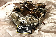 Yamaha Aluminum Cylinder Head BEFORE Chrome-Like Metal Polishing and Buffing Services / Restoration Services