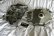Harley Davidson Aluminum Motorcycle Parts BEFORE Chrome-Like Metal Polishing and Buffing Services / Restoration Services