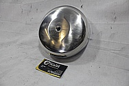 Harley Davidson Motorcycle Aluminum Engine Cover Piece BEFORE Chrome-Like Metal Polishing and Buffing Services / Restoration Services