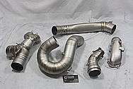Titanium Motorcycle Racing Pipes BEFORE Chrome-Like Metal Polishing and Buffing Services / Restoration Services