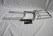 1986 Honda V-65 Magna Motorcycle Aluminum Side Rails, Seat Support and Mini Rack BEFORE Chrome-Like Metal Polishing and Buffing Services