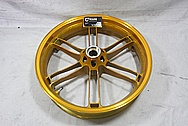 Buell XP Aluminum Powdercoated Motorcycle Wheels BEFORE Chrome-Like Metal Polishing and Buffing Services / Restoration Services