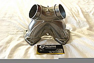 Harley Davidson S&S Aluminum Motorcycle Engine Intake X Piece BEFORE Chrome-Like Metal Polishing and Buffing Services / Restoration Services