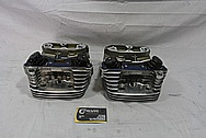 Harley Davidson S&S Aluminum Cylinders and Cylinder Heads BEFORE Chrome-Like Metal Polishing and Buffing Services / Restoration Services