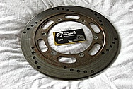 Motorcycle Steel Brake Rotor BEFORE Chrome-Like Metal Polishing and Buffing Services / Restoration Service