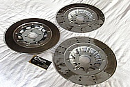 Harley Davidson Aluminum Rotor Centers BEFORE Chrome-Like Metal Polishing and Buffing Services / Restoration Service