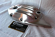 Aluminum Motorcycle Engine Cover Piece BEFORE Chrome-Like Metal Polishing and Buffing Services / Restoration Service